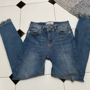 Free people frayed jeans